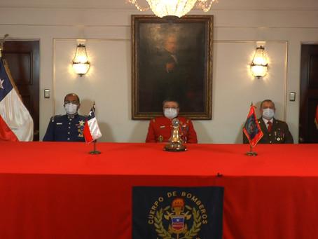 Sesión Solemne por el 170° Aniversario de la Fundación del Cuerpo de Bomberos de Valparaíso