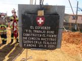 """Ceremonia de Colocación 1era Piedra del Futuro Cuartel de la 12a Cía. """"Luis Bravo Osses"""" Bomba Suiza"""