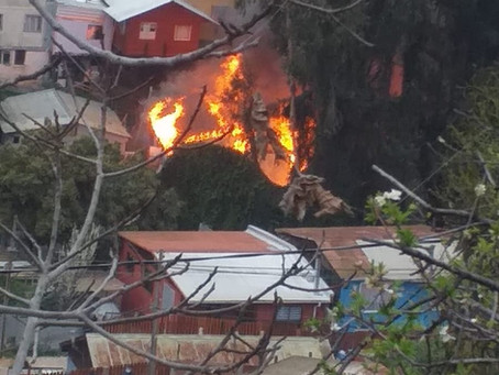 Incendio Declarado, Afectó a Vivienda Ubicada en Población Chilectra de San Roque