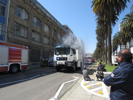 Recepción de los Primeros Cinco Nuevos Carros Bombas para el Servicio de Bomberos de Valparaíso