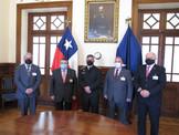 Visita Protocolar Efectúan Oficiales Generales al Comandante en Jefe de la Primera Zona Naval