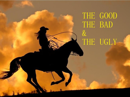 THE GOOD THE BAD AND THE UGLY.
