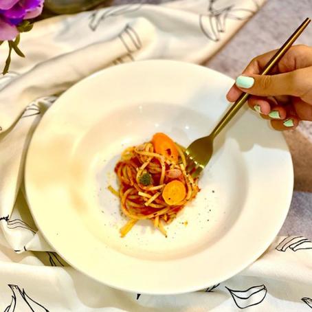 Spaghetti with soyaballs
