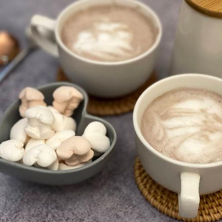 Thick hot chocolate!