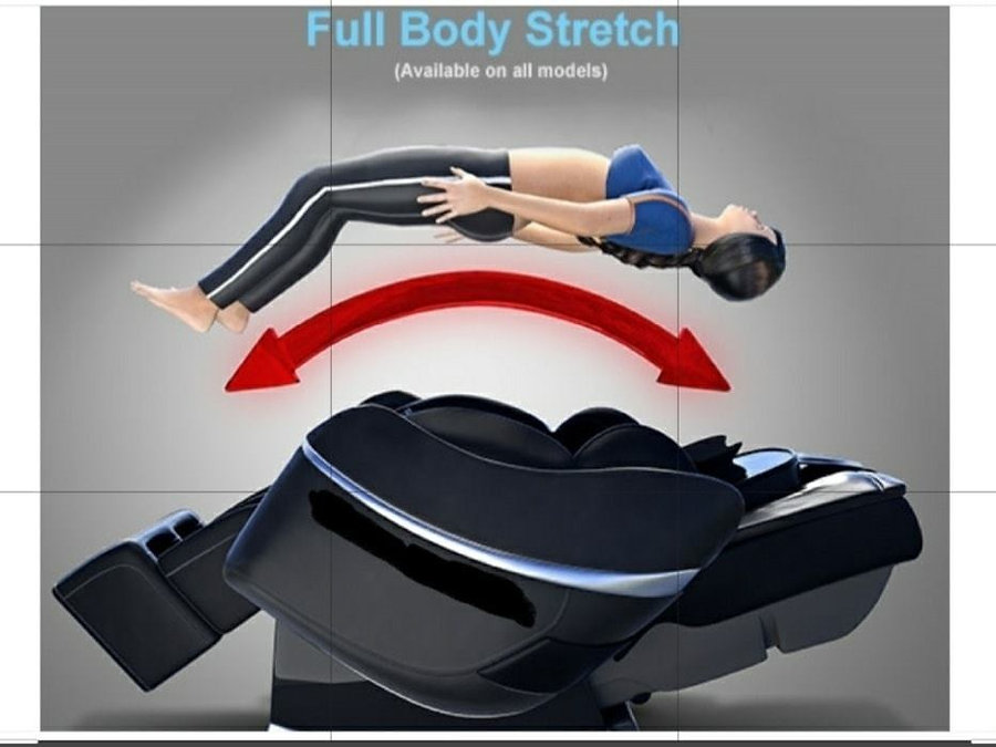 The Zero Gravity chair reclines back and makes your massage more effective.