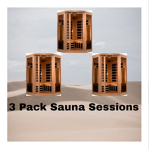 3x Sauna Package (Gift Certificates Package)