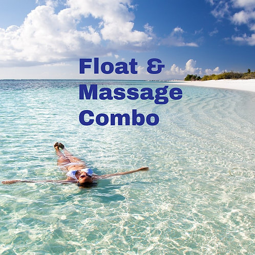 60 Minute Float and Full Body Massage Combo (Gift Certificate)
