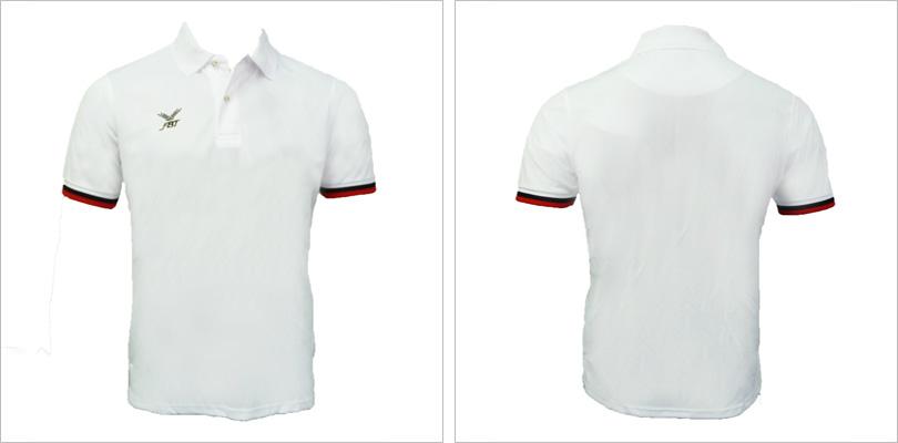 30 White Polo T-shirt