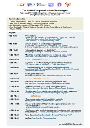 The 2nd Workshop on Quantum Technologies