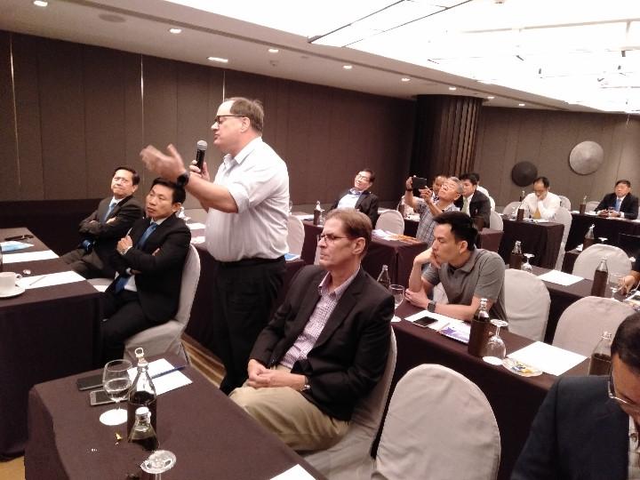 At the talk 4
