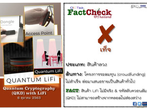 FactCheck - Quantum Cryptography (QKD) with LiFi !!