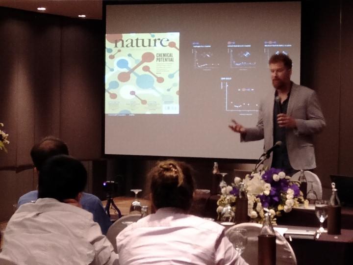 at the talk