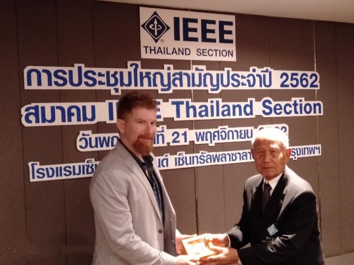 ์With IEEE Thailand senior advisor, Kasem Kularbkeaw