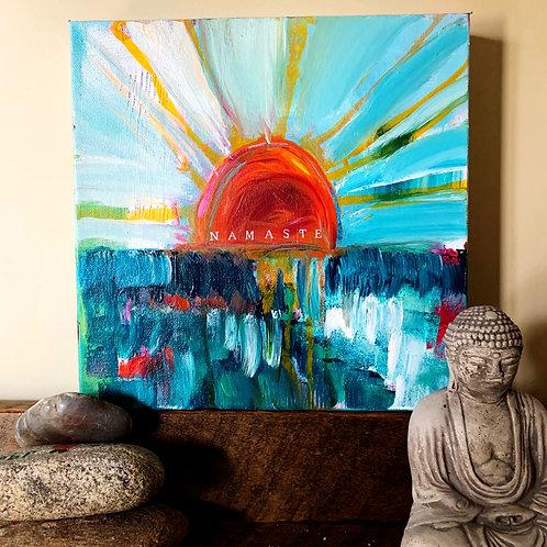 Namaste, 10 x 10 on canvas