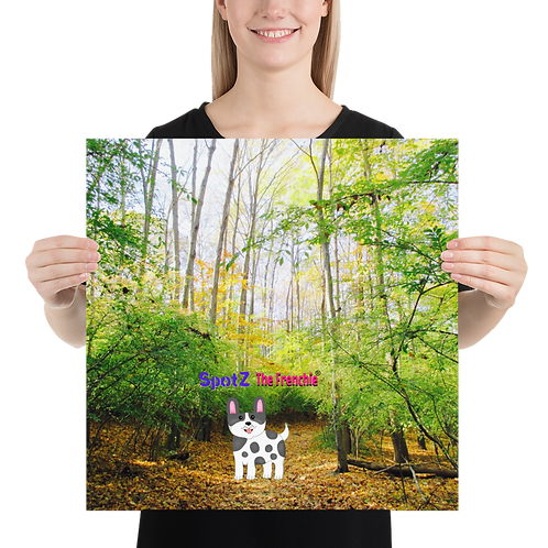 SpotZ The Frenchie® Forest Trail Poster