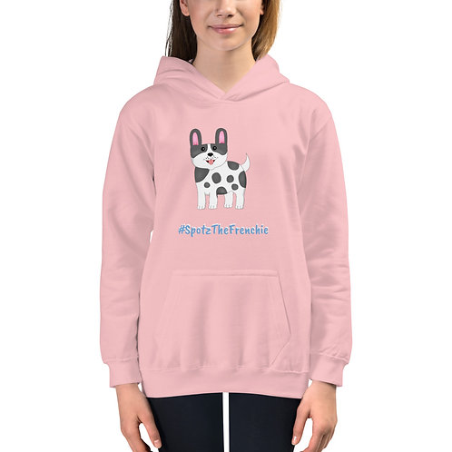 SpotZ The Frenchie™  branded #SpotzTheFrenchie- Kids Hoodie