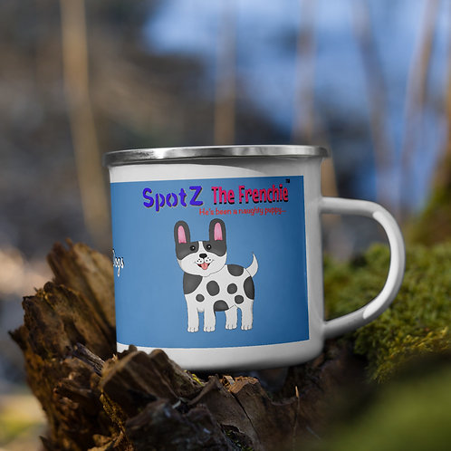 SpotZ The Frenchie™ Enamel Mug (Blue)