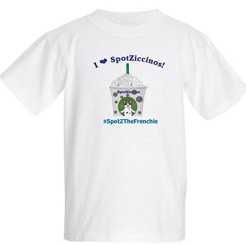 SpotZ The Frenchie™ I❤️SpotZiccino  - Kids T-Shirt