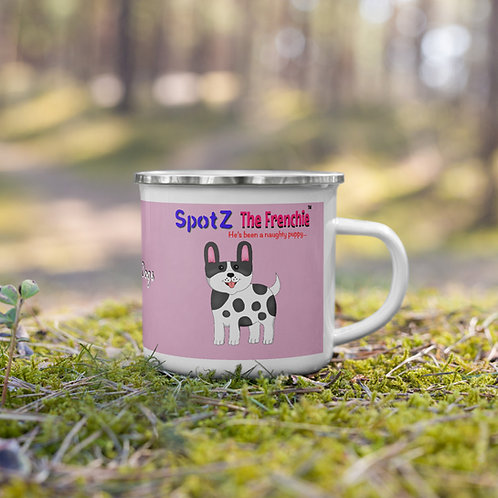 SpotZ The Frenchie™ Enamel Mug (Pink)