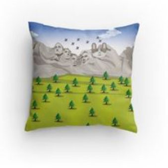 SpotZ The Frenchie™ Mt Rushmore pillow