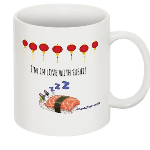 SpotZ The Frenchie™: I'm ❤️ with SUSHI - Coffee Mug