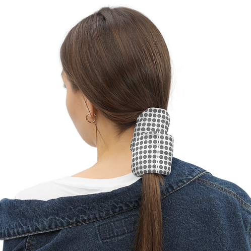 VIKI Merchandise™ Neck Gaiter (Gray Polka Dots)