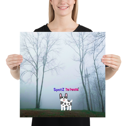SpotZ The Frenchie® Morning Mist Poster