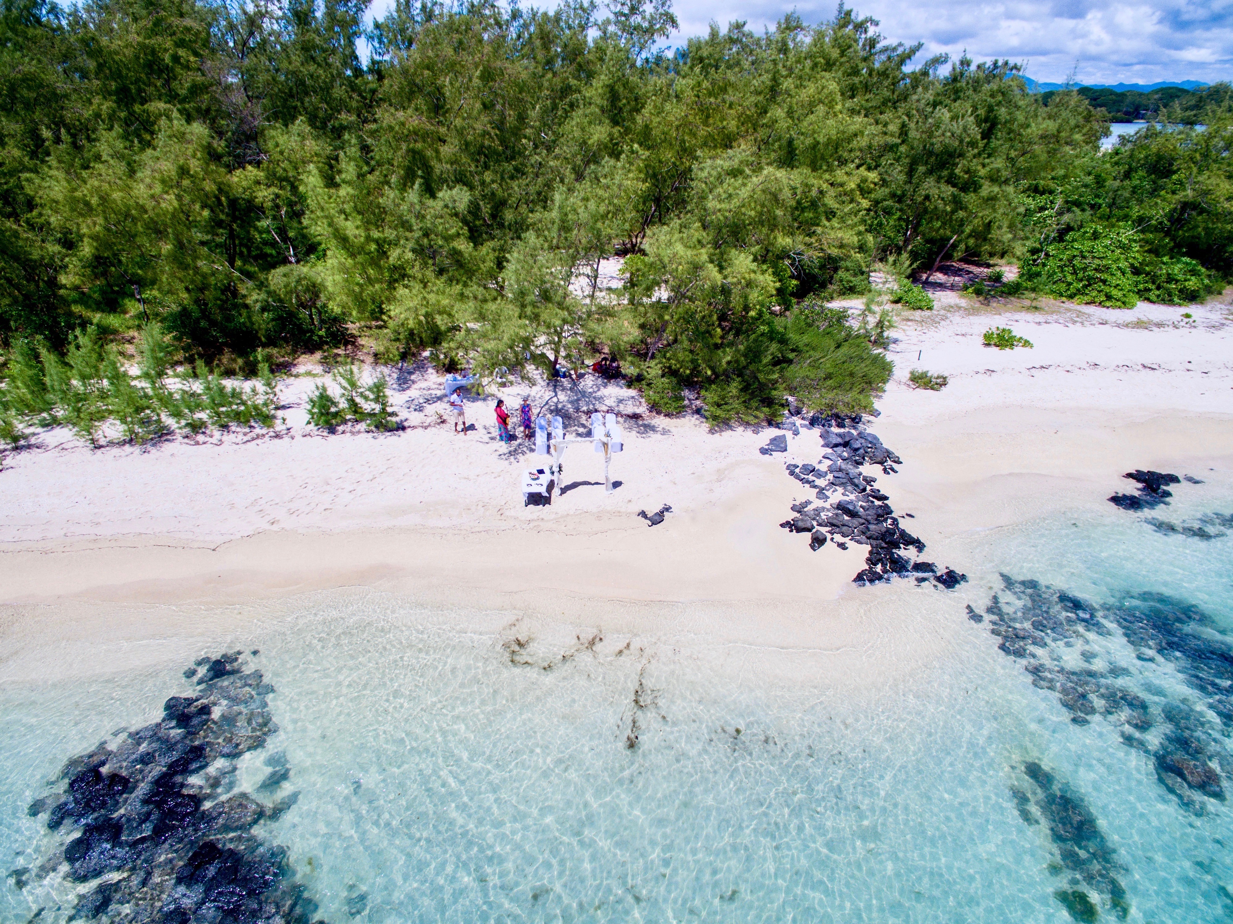 Wedding on an island