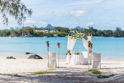 Wedding on a little island in Mauritius