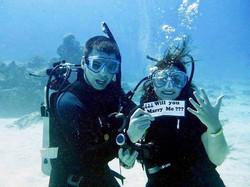 Mariage sous l'eau