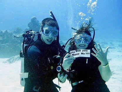 Mariage sous l'eau a l'ile de Maurice