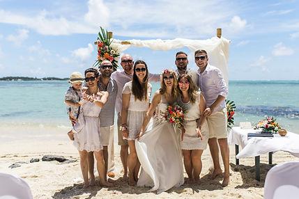Mariage sur la plage a l'ile de Maurice