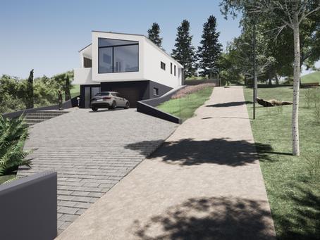 Budaörsön, kiemelkedő környezetben épülő családi ház projekt