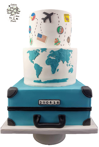 Travel-themed Wedding Cake