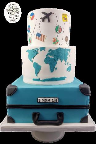 Travel-themed Wedding Cake