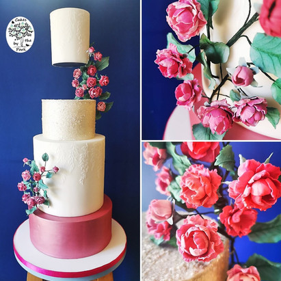 Floating Tier Wedding Cake