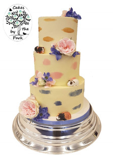 Buttercream smudge wedding cake