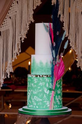 Colourful Boho Wedding Cake