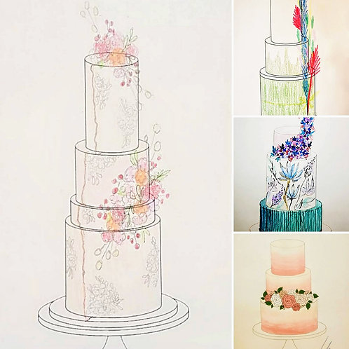 Online Facebook Video Tutorial: Inspiration and Design for a Wedding Cake