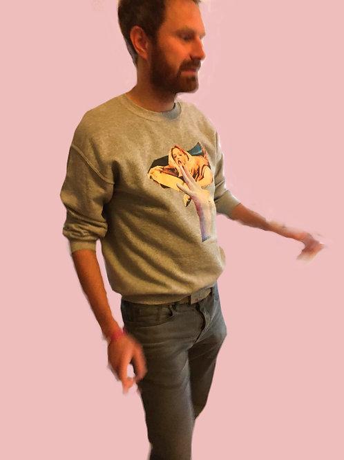 Collage Sweater Basti Grey