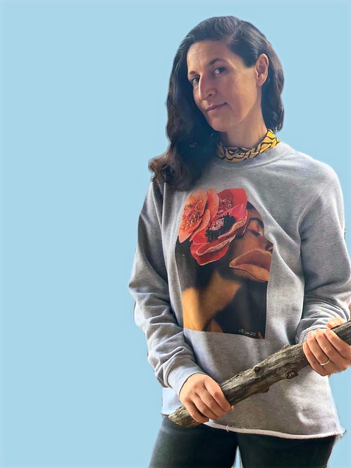 Collage Sweater Oz Grey