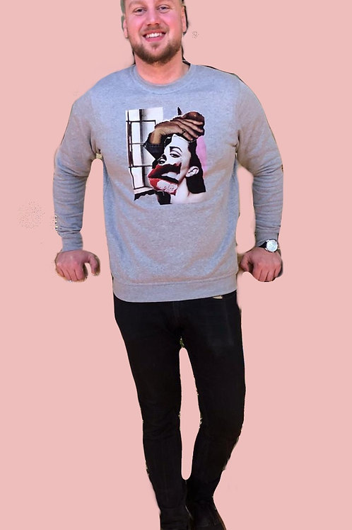 Collage Sweater Nico Grey