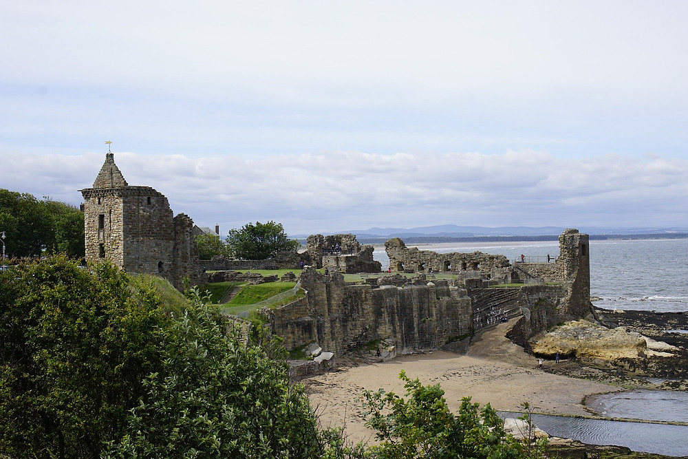 The castle in St Andrews