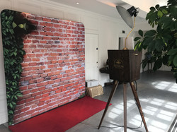 Red Brick Backdrop Setup