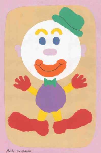 Clown - Torn Paper