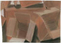 Cardboard Boxes - Conte Crayon