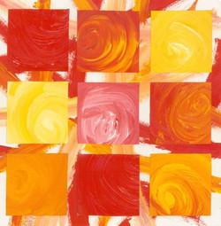 9 Square - Acrylic Paint