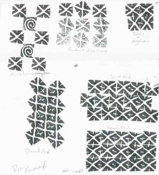 Rubber Stamp Pattern - White