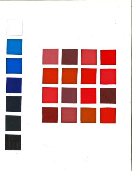 Blue Gradient - 16 Red Shades