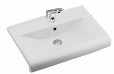 Luna Semi Recessed Wash Basin 65CM